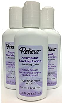 Shingles, Neuropathy, Chemo & Fibromyalgia Pain Relief Lotion by Relievz - 3 Bottles! - 100% Guaranteed! - The Doctor Recommended Patented Natural Formula that People are calling A MIRACLE!