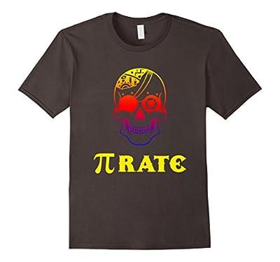 Funny Math T-Shirt Sugarskull Pirate Pi Skull Shirt