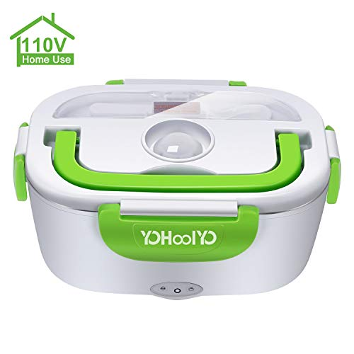 YOHOOLYO Electric Lunch Box Food Heater Portable Lunch Heater 110V with Removable Stainless Steel Container Food Grade Material (Best Packed Lunches For Adults)