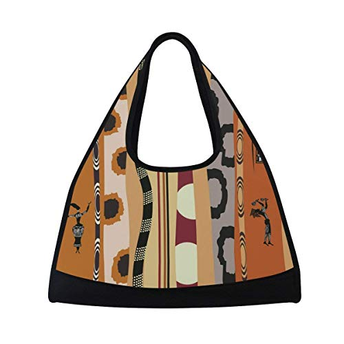 2407375ee7d OuLian Sports Gym Bag Africa Art Duffel Bag Travel Shoulder