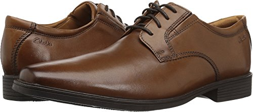 Clarks Men's Tilden Plain(new Color) Oxford, Dark Tan, 10.5 M - Shoes Dress Clarks
