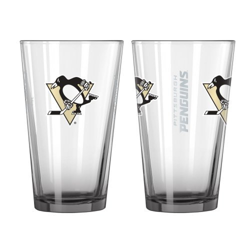 NHL Penguins - Elite Pint Glasses (2) | Pittsburgh Penguins 16 oz. Beer Pints - Set of 2