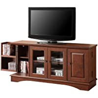 52 Wood Game TV Media Stand Console, Traditional Brown