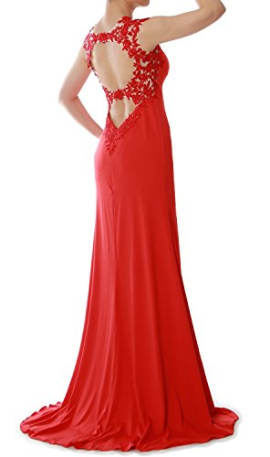MACloth Women Mermaid Lace Long Bridesmaid Dress Wedding Formal Evening Gown (EU38, Turquesa)