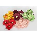 ScrapFlowers Harvest set of paper flowers for Scrapbooking, Cardmaking