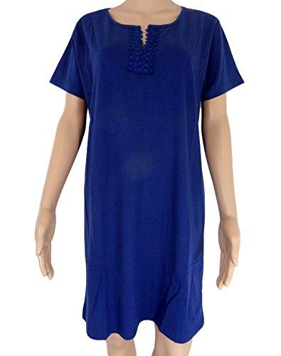 Strawberry Hill Cottage - Chemise de nuit - Femme bleu bleu