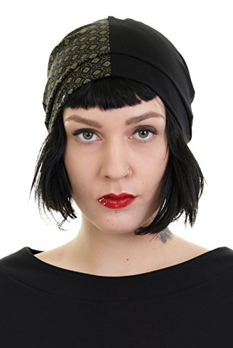 Harley para 3elfen Retro Bonnet Verde Quinn Made Cape Beanie Berlin mujer In SqqFnA1