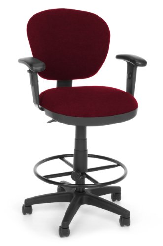 OFM 150-AA-DK-122 Lite Use Computer Task Stool with Arms and Drafting Kit (Use Chair Lite Drafting)