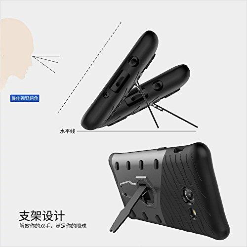GR Para Samsung Galaxy J5 2017 J520 híbrido resistente resistente blindaje escudo protector a prueba de golpes con ajuste Kickstand cubierta de la caja ( Color : Gold ) Red