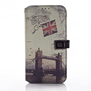 London Bridge Pattern PU Leather Case For Samsung GALAXY S5 I9600