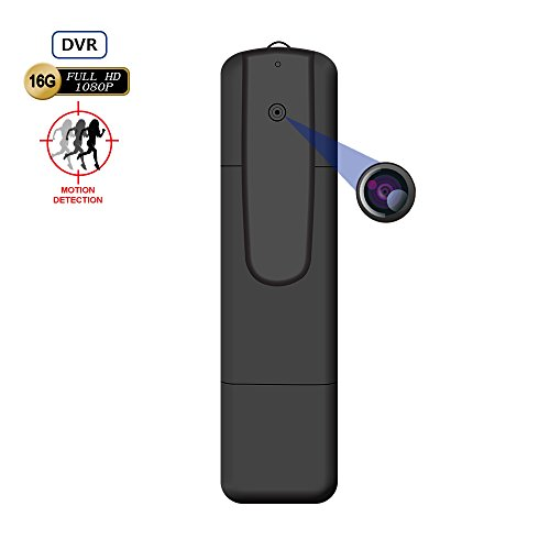 BSTCAMSYS 1080P HD Body Worn Pen Wearable Hidden camera -Mini Portable HD Pen Wearable Mini Spy Camcorder Video Recorder for indoor outdoor security -