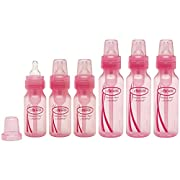 Dr. Brown's 4oz & 8oz Baby Bottle Set, Pink