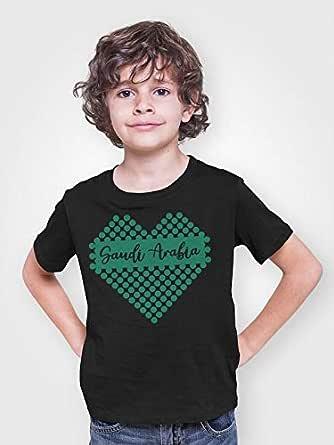 Atiq Saudi Arabia Heart T-Shirt for Boy, Size 34 EU, Black