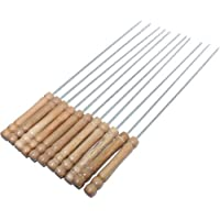 Anne -Kee Skewers For Tandoor Barbeque Grill Steel Needles, 16 Inches (7 Nos)