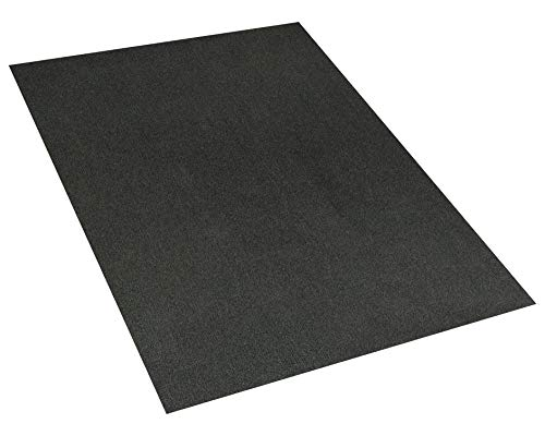 Indoor - Outdoor Area Rugs and Runners Constructed with Superior PET Fiber Made from 100% Purified Recycled Bottles. (3' x 5', Black Ice)