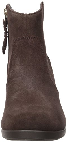 Crocs Leigh Women's Boot Suede Espresso Wedge xq7Aq0Fnw