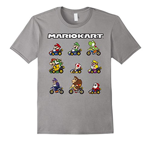 Nintendo Mario Kart Racers Ready Line-Up Graphic T-Shirt