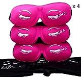 3D Lash Bra Sleep MASK Protects Eyelash Extensions While U SLEEP US Seller (12-Pink$7.99 each)