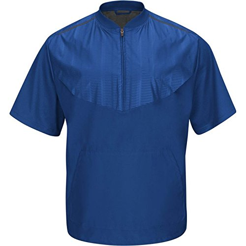Majestic Youth Cool Base Short Sleeve Training Jacket, Roy, X-Large by Majestic Athletic