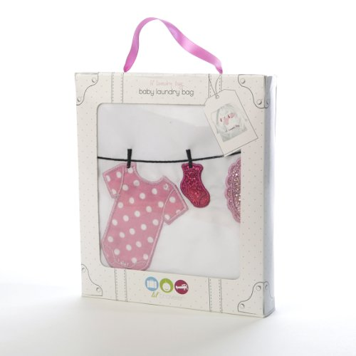 Miamica Lil' Laundry Bag - Girls, White, One Size