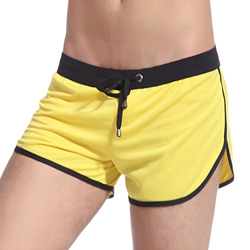 KAMUON Mens Mesh Quick Dry Running Workout Gym Shorts Lounge Pants Built-in Jock (US L = Asian XL : Waist 34