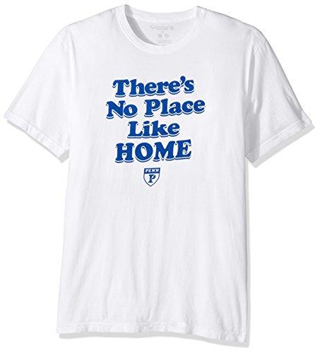 Alma Mater NCAA Penn State Nittany Lions Men's Organic Seaweed Ink Short Sleeve Crew Neck T-Shirt, Large, White