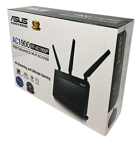 New Asus AC-1900 (RT-AC1900P) Dual-Band WiFi Performance Router with ASUS Router app and AiProtection, Supporting AiMesh - mesh Networking Whole Home WiFi System - Retail Box