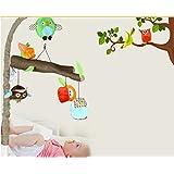 edealing(TM) Baby Infant Soft Forest Animal Owl Handbells Rattles Bed Bell Stroller Developmental Toys
