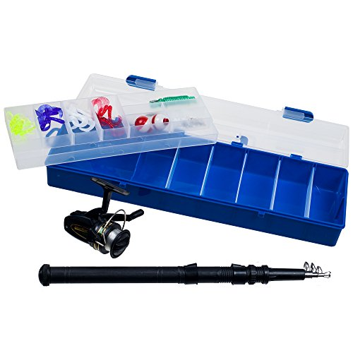 Gone Fishing Telescopic Rod with Reel and Tackle Box Set