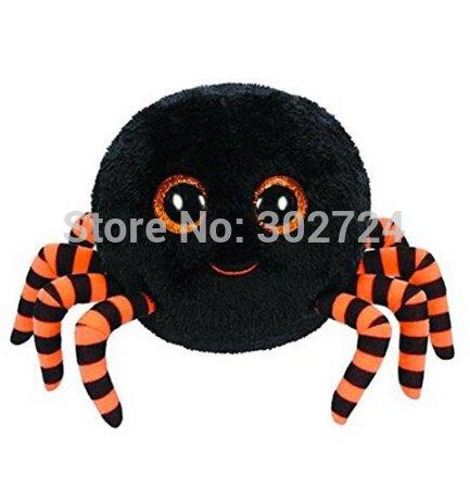 New Ty Beanie Boos Big Eyes Crawly Halloween Spider Black TY Plush Animals Children Toys Brinquedos Soft Toys for Kids