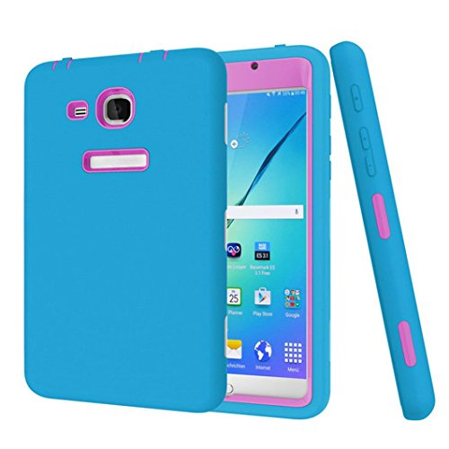 Price comparison product image Mchoice For Samsung Galaxy Tab 3/E Lite T110 T111 Shockproof Heavy Duty Robot Case Cover (Sky Blue)