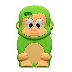 Green 3D Cute Monkey Cartoon Soft Silicone Protective Case For Sam Sung Galaxy S4 I9500 Cover