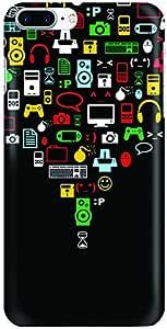 Stylizedd Apple iPhone 8 Plus Slim Snap Case Cover Matte Finish - Convergence (Black)