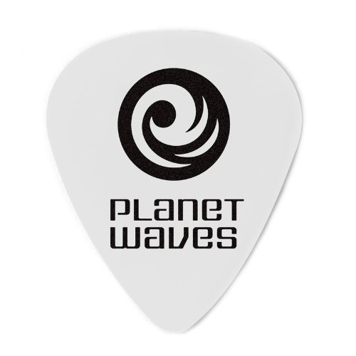(Planet Waves White-Color Celluloid Guitar Picks, 10 pack, Light)