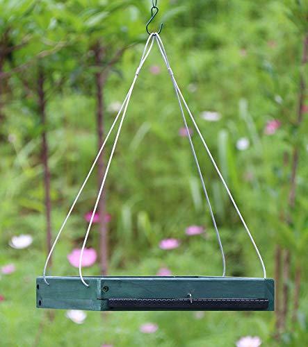 (Gardirect Bird Platform, Wooden Tray Bird Feeder (Green))