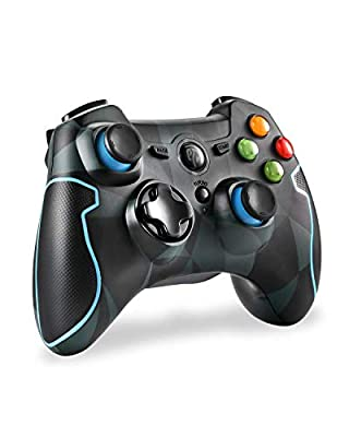 EasySMX 2.4G Wireless Controller for PS3, PC Gamepads with Vibration Fire Button Range up to 10m Support PC,Laptop, Android and TV Box