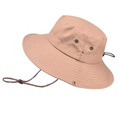 Cotton Bucket Hats (Unisex) Wide Brim Outdoor Summer Cap   Hiking, Beach, Sports -