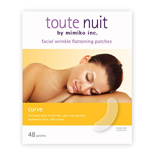 (Toute Nuit Facial Wrinkle Flattening Patches, Curve - Reducing Fine Lines Around Eyes and Mouth Anti-Wrinkle Patches, Face Tape - 48 Patches)