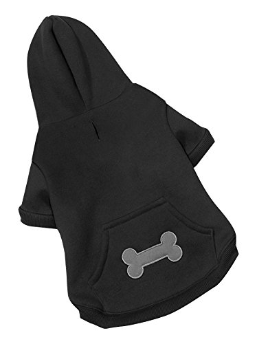 (Best Pet Supplies - Voyager Dog Windproof Hoodie Pullover - Black,)