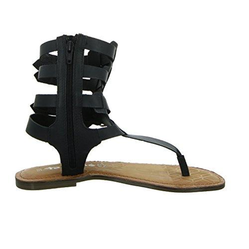 Tamaris - Sandalias de vestir de Piel para mujer Schwarz (Schwarz)