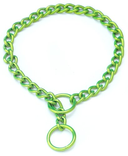 Platinum Pets 3mm Coated Chain Dog Collar 18-Inch, Corona Lime, My Pet Supplies
