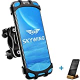 SKYWING [Quick Release] Bike Phone Mount, 360° Adjustable Bicycle Phone Holder, Detachable Motorcycle Handlebar Mount. Black