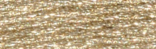 DMC Light Effects Embroidery Floss Color E677 White Gold Precious Metal Effect , 8.7 yards