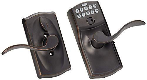 Schlage FE595VCAM716ACC FE595VCAM/ACC 716 Keypad Accent Lever Door Lock Flex, Aged Bronze