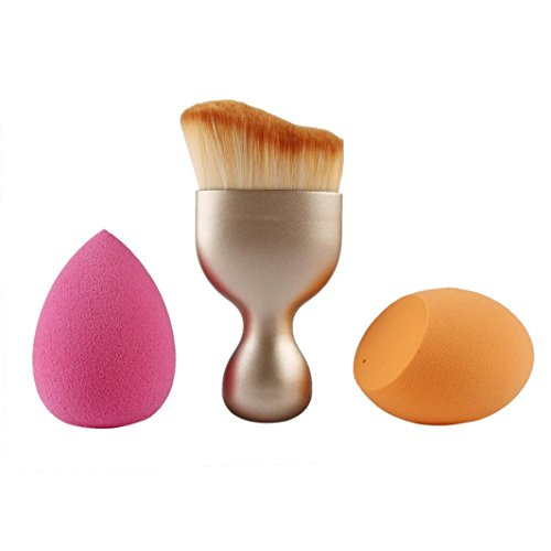 Powerpuff Girl Costume Makeup (Makeup Blender Sponge, WuyiMC Super Smooth Thickening Superfine Cotton Powder Puff Foundation Puff Easy to Be Absorbed by Water and is Skin-friendly (Gold))