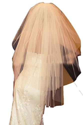 ivory dress and white veil - 7