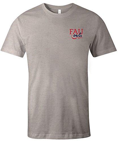 NCAA Florida Atlantic Owls Adult NCAA Hand Type Short sleeve Triblend T-Shirt,Large,Oatmeal