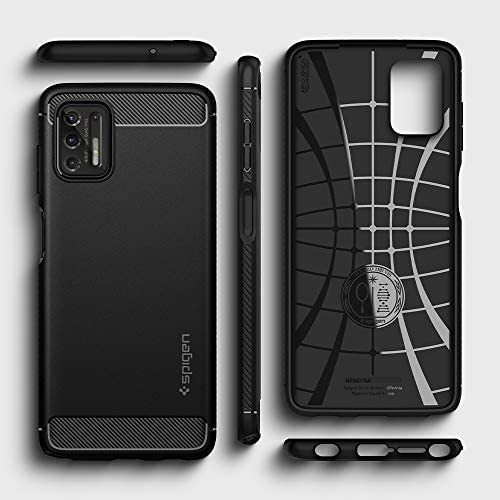 Spigen Rugged Armor Designed for Moto G Stylus (2021) Case [NOT Compatible with Moto G Stylus (2020)] - Matte Black