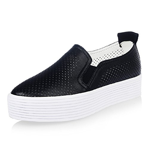 transpirable hueco Lok Fu zapatos mujer/blanco grueso zapato/Siazon pastel con zapatos al final de/Escuela de zapatos casuales de alto viento A