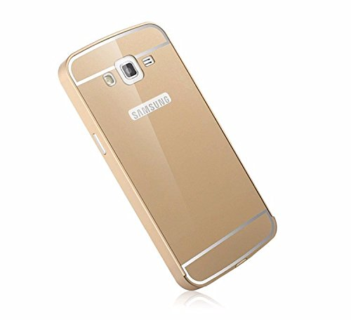 best authentic 01eae 1eb24 Luxury Aluminium Frame Acrylic Back Cover Case Bumper For Samsung Galaxy  Grand MAX G7200-GOLD